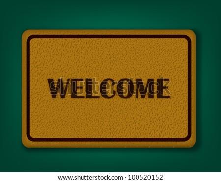 Welcome Carpet - stock vector