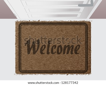 Welcome door mat eps10 - stock vector