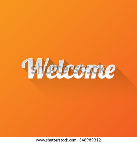 Welcome Greetings Background - stock vector