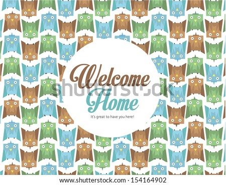Welcome Home Card - stock vector