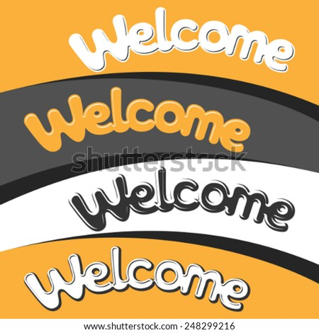Welcome lettering vector illustration - stock vector