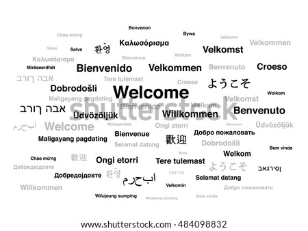 Welcome Phrase Different Languages World Isolated Stock Vector - How many types of languages are there in the world