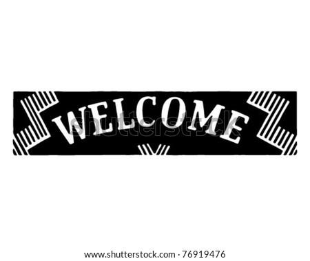 Welcome - Retro Ad Art Banner - stock vector