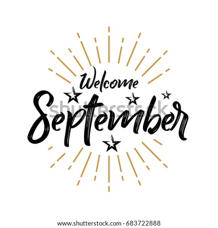 Welcome september firework vector greeting new stock vector 2018 welcome september firework vector for greeting new month m4hsunfo