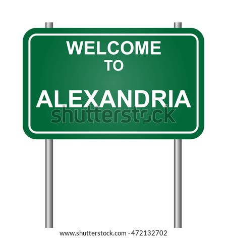 Welcome to Alexandria, green signal vector
