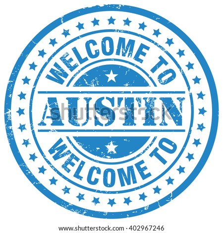 welcome to austin - stock vector