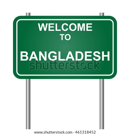 Welcome to Bangladesh, green signal vector