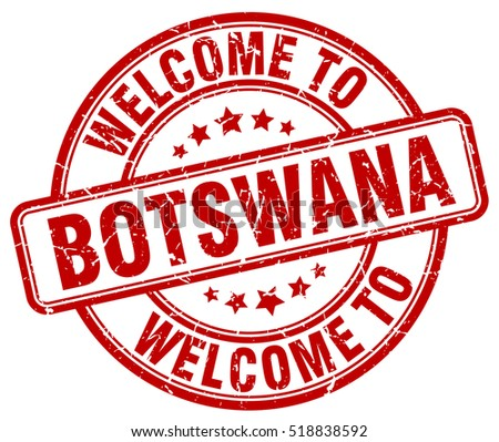 welcome to Botswana. stamp.