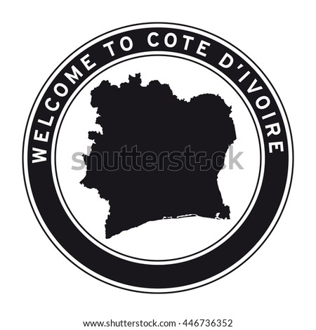Welcome to cote d ivoire vector logo sticker button