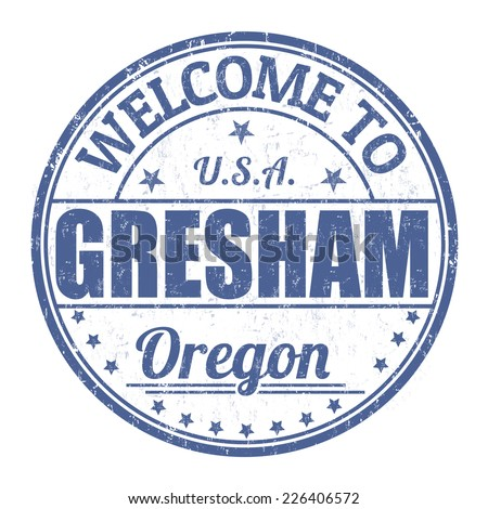 Welcome to Gresham grunge rubber stamp on white background, vector illustration - stock vector