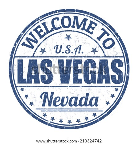 Welcome to Las Vegas grunge rubber stamp on white background, vector illustration