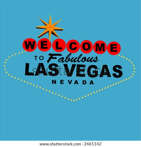 Welcome to  las vegas overlay sign - stock vector