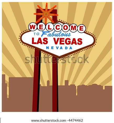 welcome to Las Vegas sign vector - stock vector