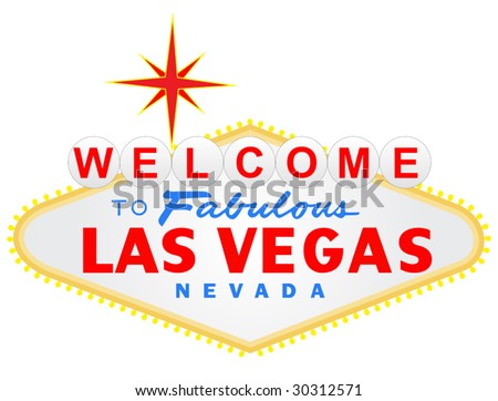 Welcome to Las Vegas vector illustration - stock vector