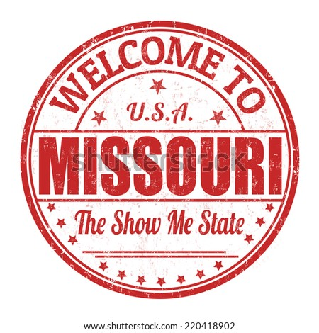 Welcome to Missouri grunge rubber stamp on white background, vector illustration - stock vector