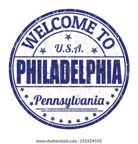 Welcome to Philadelphia grunge rubber stamp on white background, vector illustration