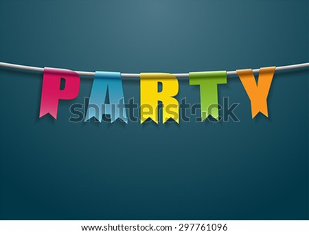Welcome to the party - stock vector