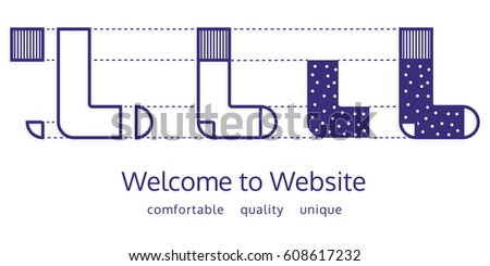 Welcome website socks shop color email stock vector 608617232 welcome to website for socks shop color email graphic web banner template maxwellsz