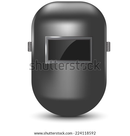 welding mask isolated vector illustration - stock vector