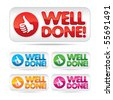 Well done! Vector label - stock photo