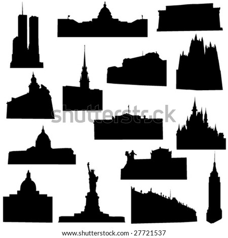 Well-known  America architecture - stock vector