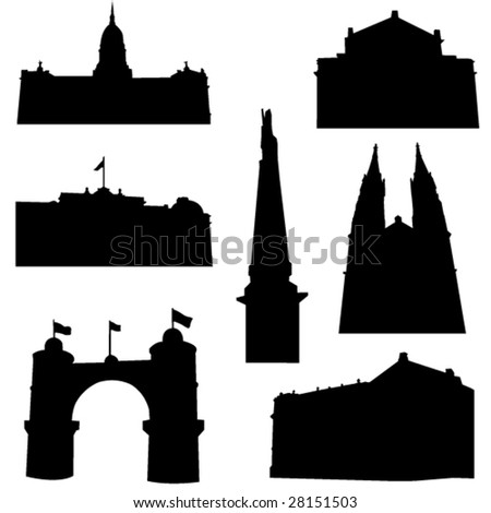 Well-known Argentina architecture - stock vector