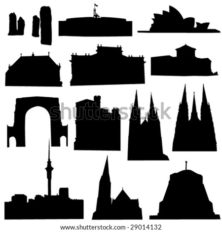 Well-known Australia architecture - stock vector