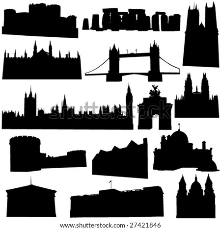 Well-known British building - stock vector