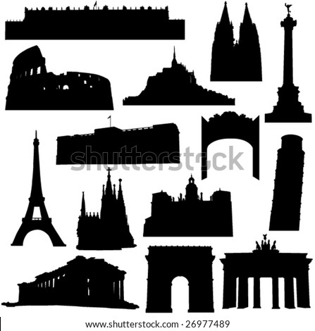 Well-known building in Europe - stock vector