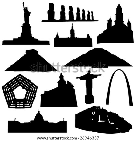 Well-known building in the Americas - stock vector