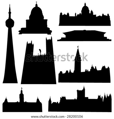 Well-known Canada architecture - stock vector