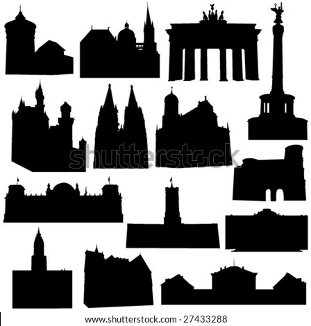 Well-known Germany architecture - stock vector