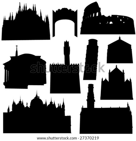 Well-known Italian Architecture - stock vector