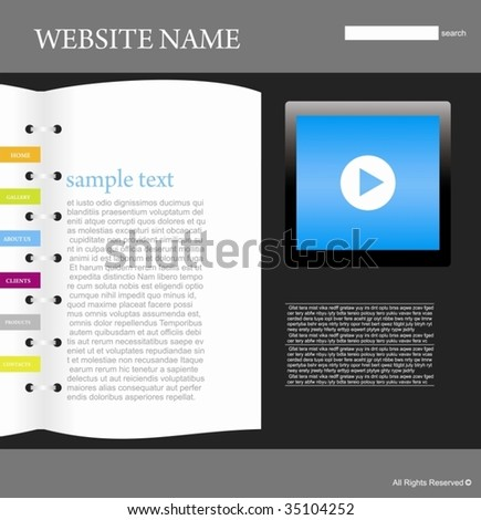 wesite design template - stock vector