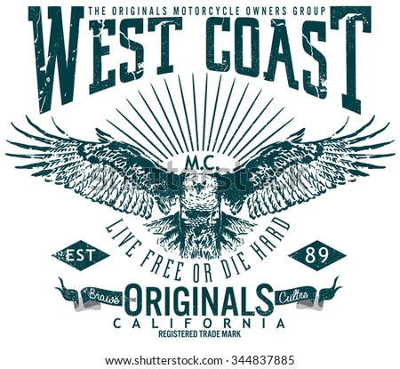 West coast original image designtee graphicsvintage stock for West coast motor inc