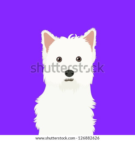 West highland white terrier, The buddy dog - stock vector