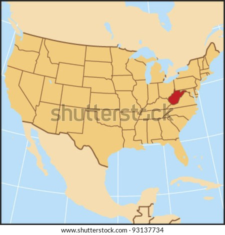 West Virginia Locate Map