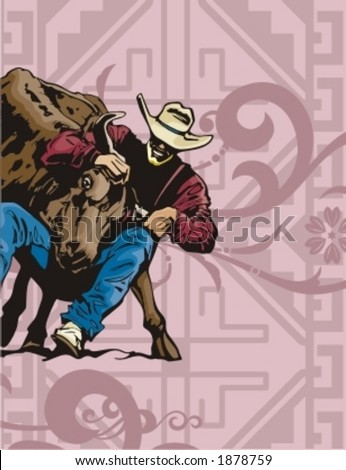 Western Rodeo Background Series. - stock vector