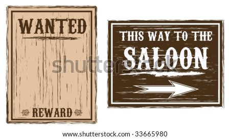 Western Wanted/Saloon Background - stock vector