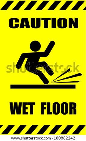 Wet Floor - stock vector