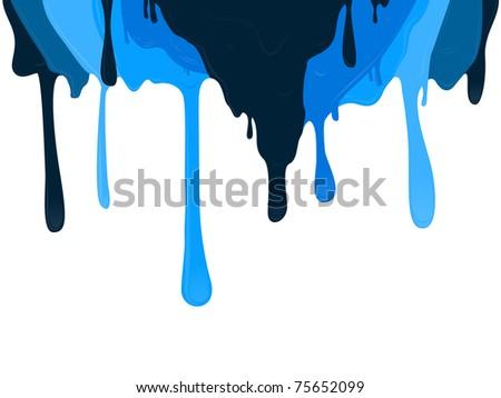 Wet Paint Drips - stock vector