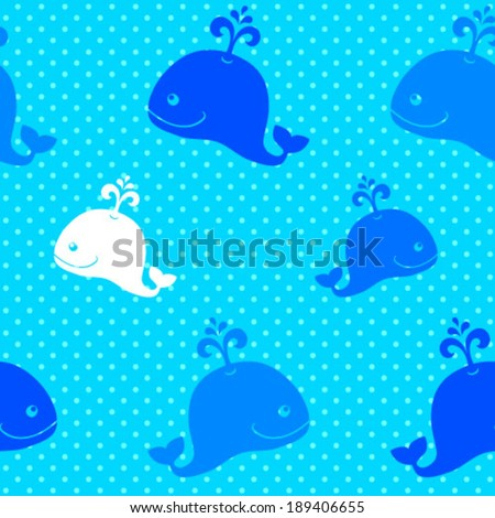 whale background seamless vector pattern baby stock vector