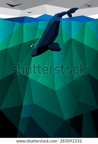 Whale in the sea