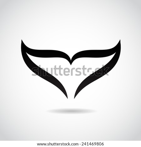 Whale tail icon isolated on white background. Vector illustration. - stock vector