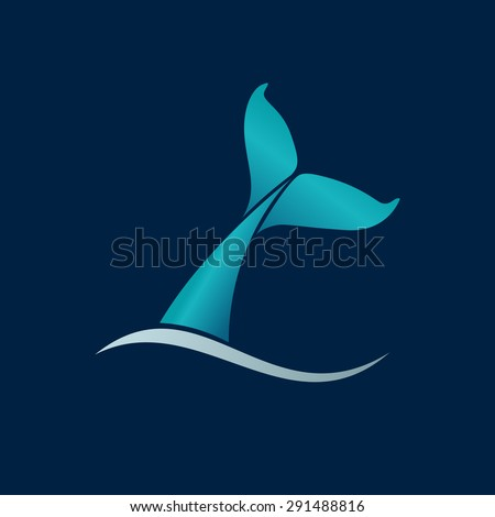 Whale white background