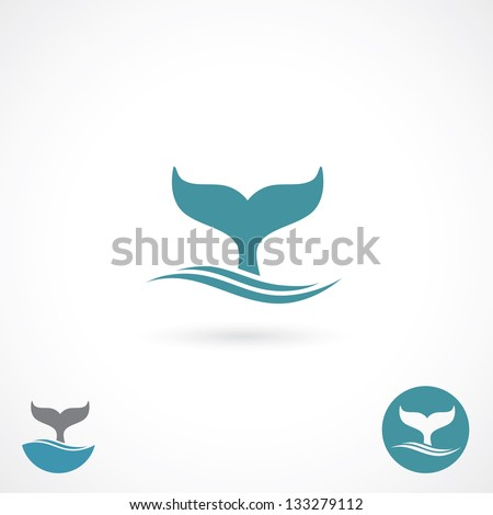 Whale tale - vector illustration - stock vector