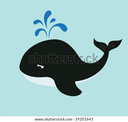 Whale. Vector illustration.