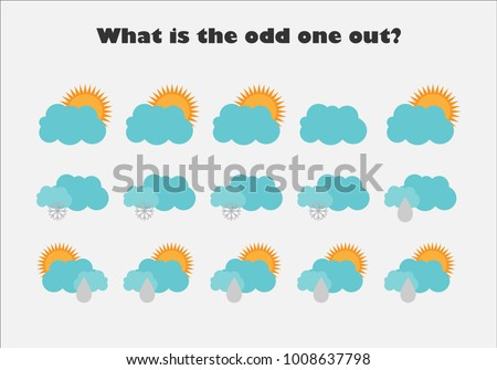 What Odd One Out Pictures Weather Stock Vector 1008637798 - Shutterstock