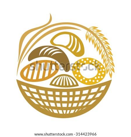 Wheat bread vector illustration - stock vector