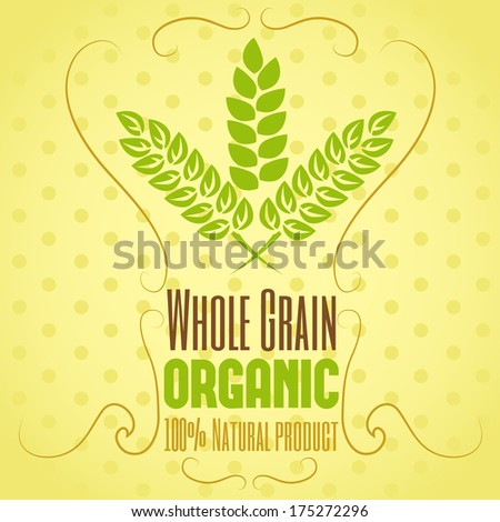Wheat composition in vector - stock vector